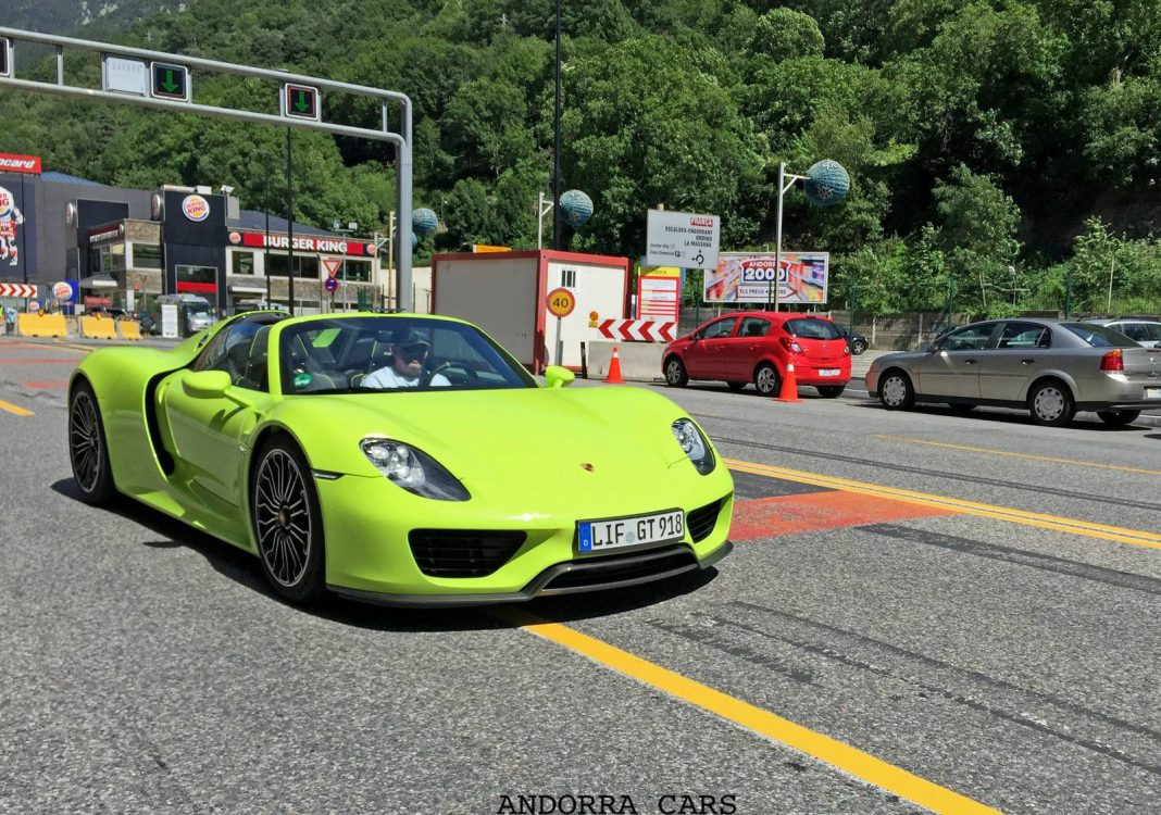13 Porsche 918 Spyders Invade Andorra