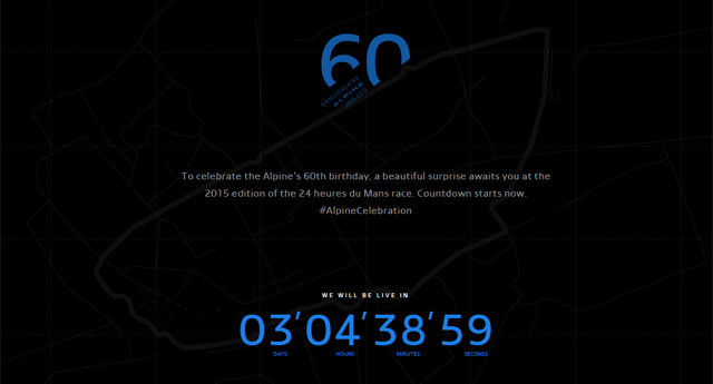 Renault Alpine teased before 24 Hours of Le Mans 2015