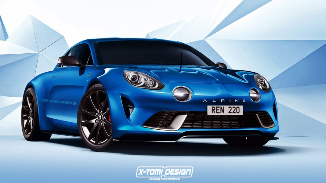 Alpine sports car rendered