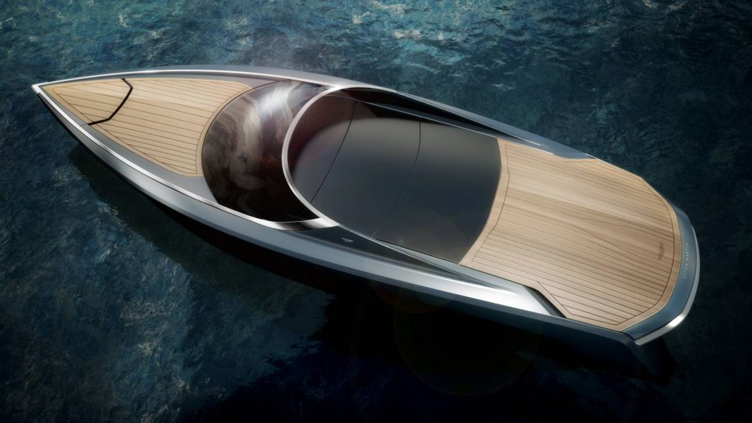 Aston Martin Powerboat top closed