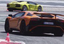 Lamborghini Aventador SV test at Catalunya