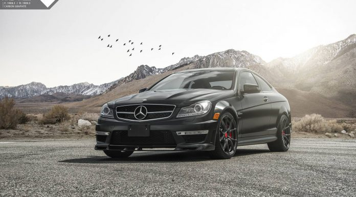 Matte Black Mercedes-Benz C63 AMG by Vorsteiner