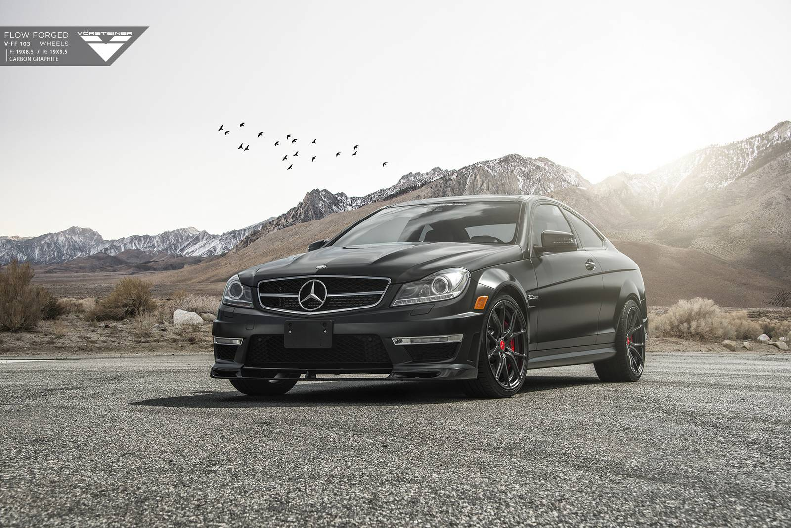 Matte black mercedes benz c63 amg by vorsteiner gtspirit for Matte black mercedes benz