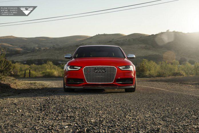 Red Audi S4 by Vorsteiner