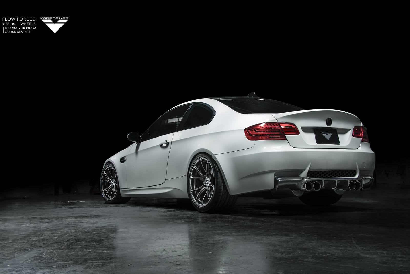 bmw e92 m3 with 19 inch carbon graphite vorsteiner wheels gtspirit. Black Bedroom Furniture Sets. Home Design Ideas