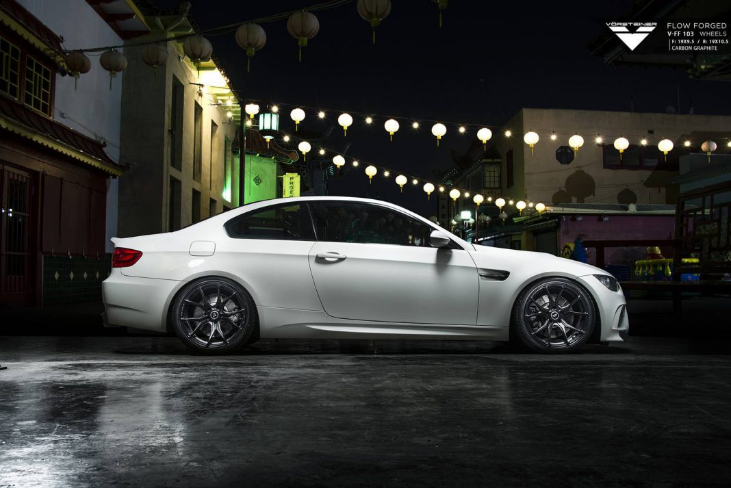 BMW E92 M3 with 19-Inch Carbon Graphite Vorsteiner Wheels