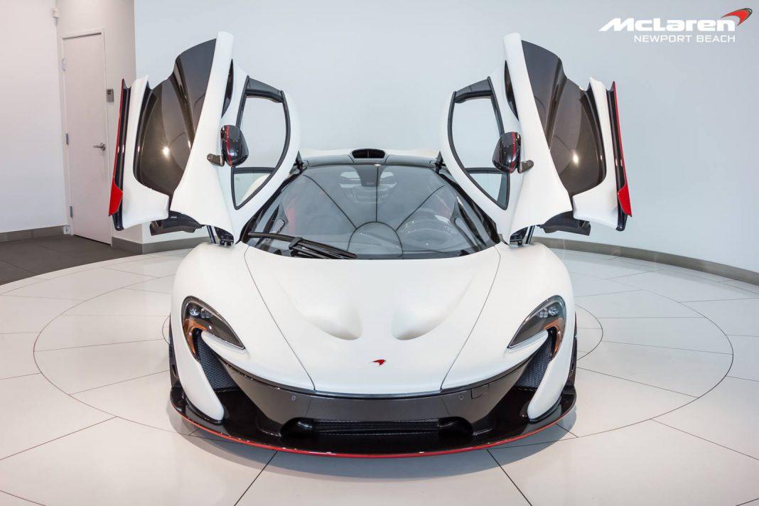 Satin Pearl White McLaren P1