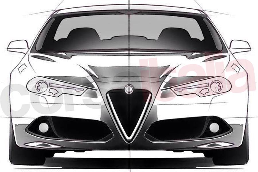 Alfa Romeo Giulia sketch