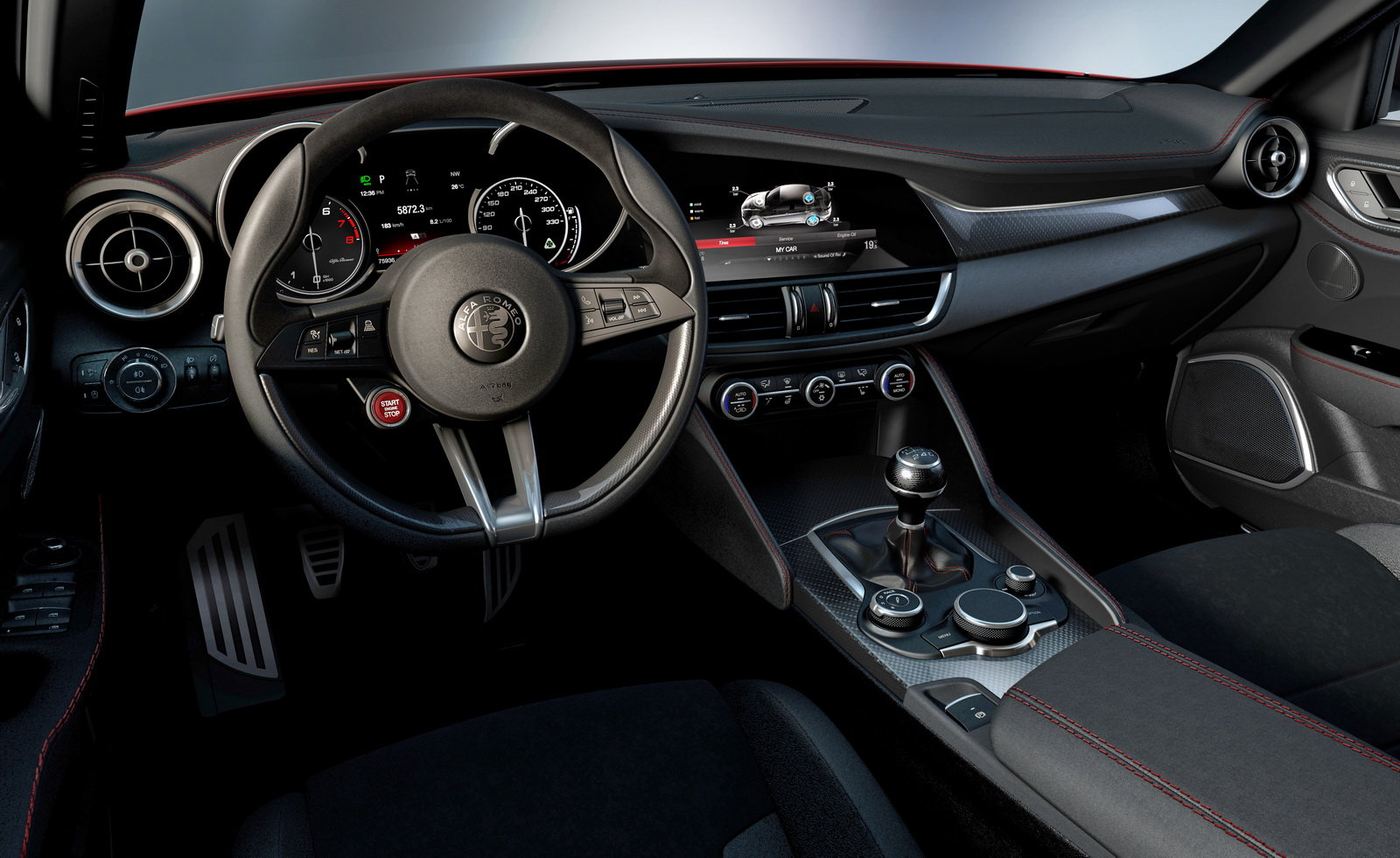 Alfa Romeo Giulia Shows Off Interior Gtspirit