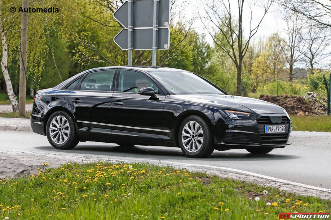 2016 Audi A4 B9 front side spy shot