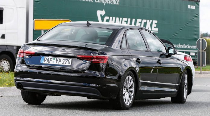 2016 Audi A4 B9 rear spy shot