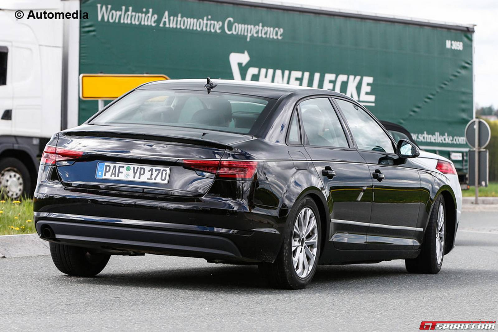 2016 audi a4 b9 spy shots without camo gtspirit. Black Bedroom Furniture Sets. Home Design Ideas