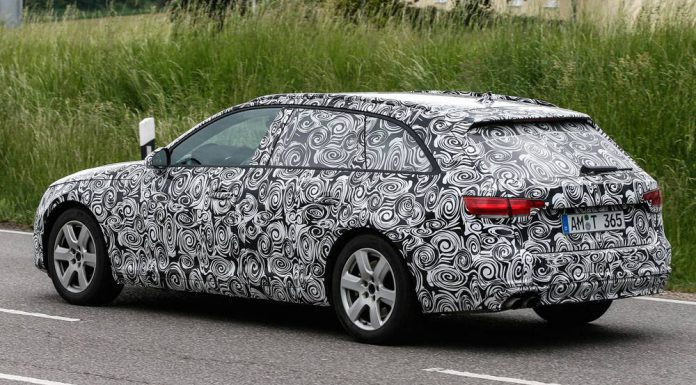 Audi A4 Avant spy shots