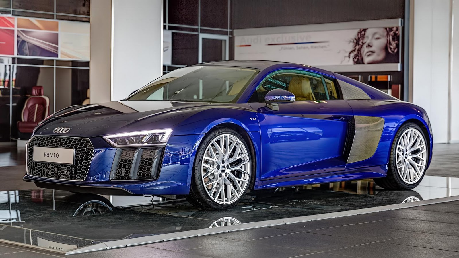 beautiful blue 2016 audi r8 v10 in germany gtspirit. Black Bedroom Furniture Sets. Home Design Ideas