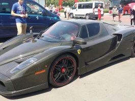 Bare carbon fibre Ferrari Enzo