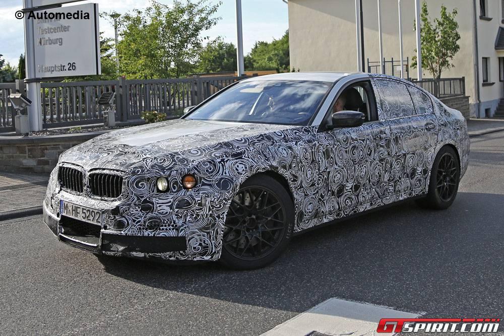 BMW M5 spied front