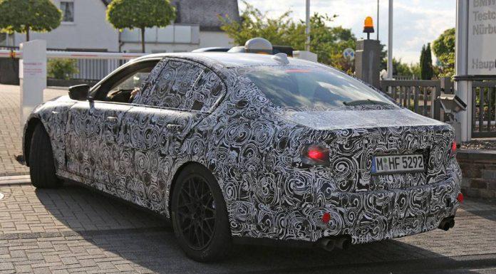 BMW M5 spied rear