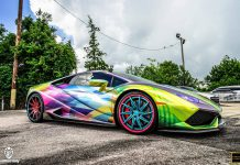 Rainbow Themed Lamborghini Huracan
