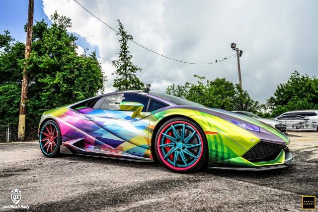 Rainbow Themed Lamborghini Huracan