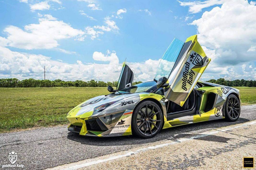 goldRush Rally 7 Lamborghini Aventador