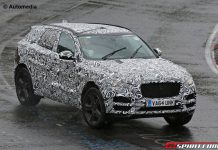 Jaguar F-Pace spied at the Nurburgring front