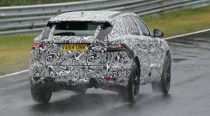 Jaguar F-Pace spied at the Nurburgring rear