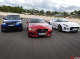 Jaguar Land Rover at the Nurburgring GP Track