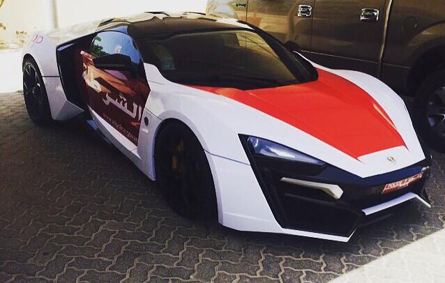 Lykan Hypersport Abu Dhabi police front