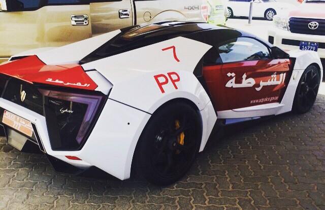 Lykan Hypersport Abu Dhabi police rear