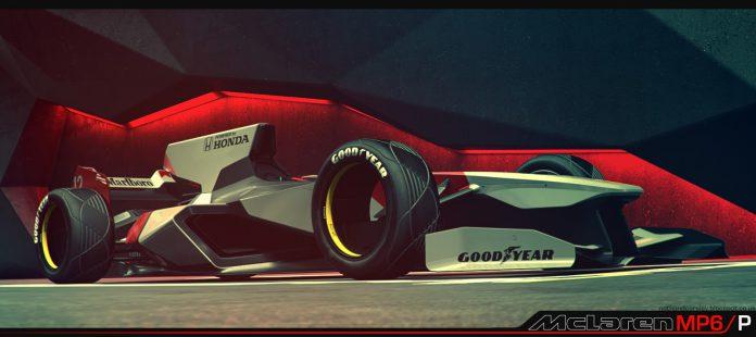 2056 Formula One car rendered