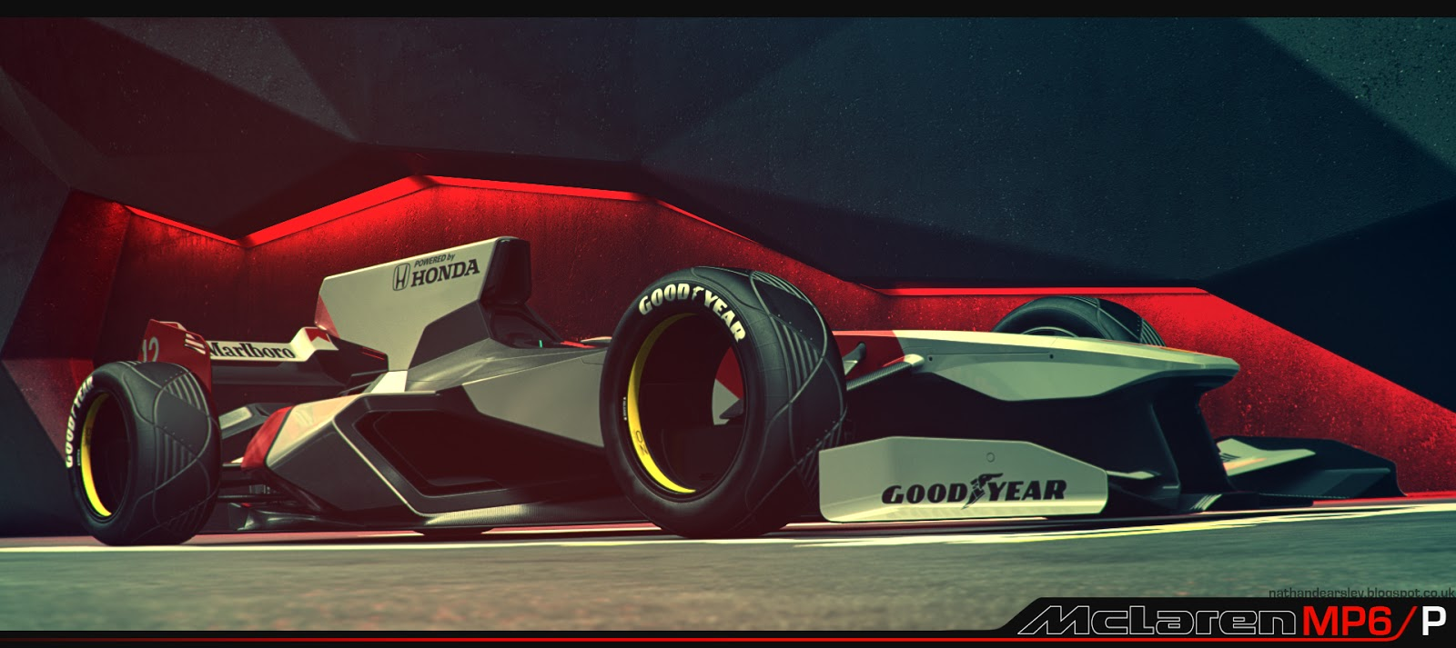 2056 Formula One car rendered