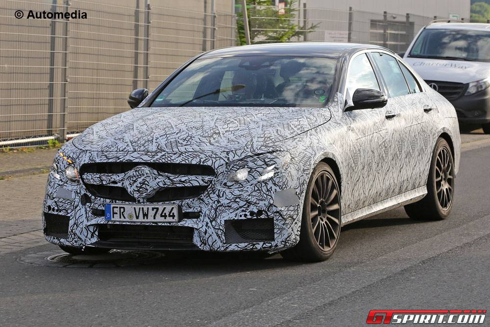Mercedes-Benz E63 AMG spied front
