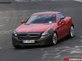 Mercedes-Benz SLC at the Nurburgring