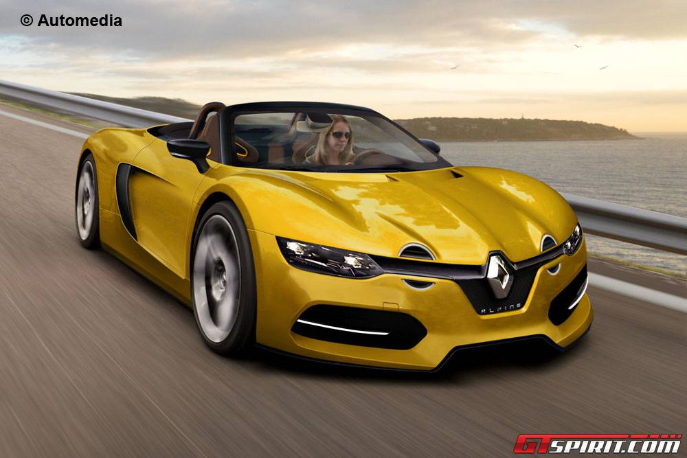 renault s new alpine sports car drops its top   gtspirit