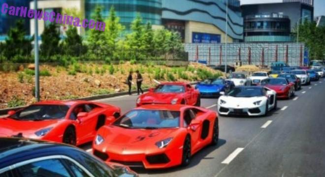 Crazy supercar wedding in China