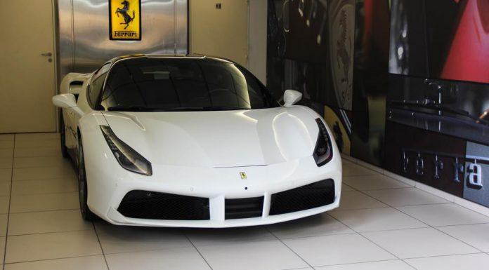 White Ferrari 488 GTB