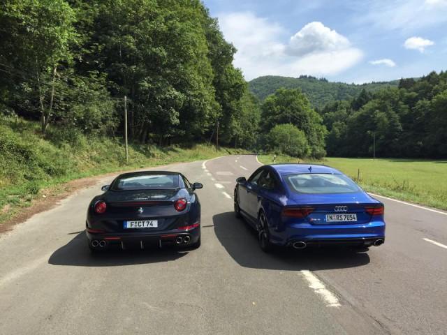 Ferrari Califonria T with Audi RS7