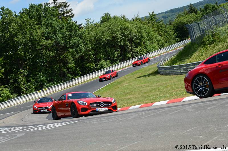 Mercedes-AMG GTs and Gumpert Apollo at Nurburgring