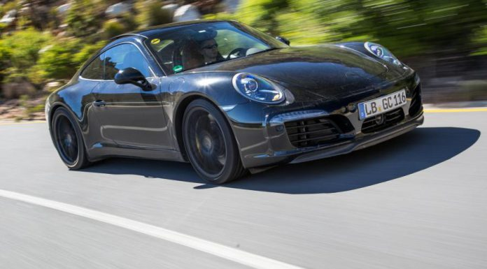 Facelift Porsche 911 tests in South Africa front