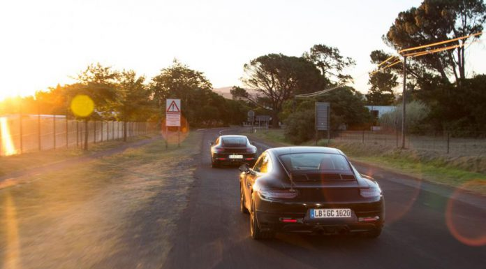 Facelift Porsche 911 tests in South Africa rear