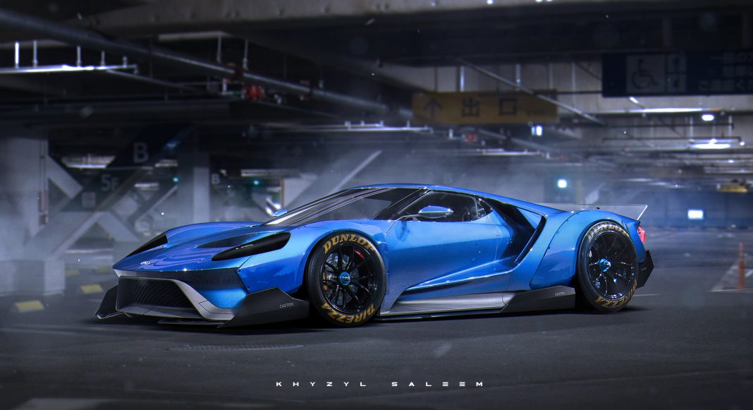 Crazy 2016 Ford GT rendering