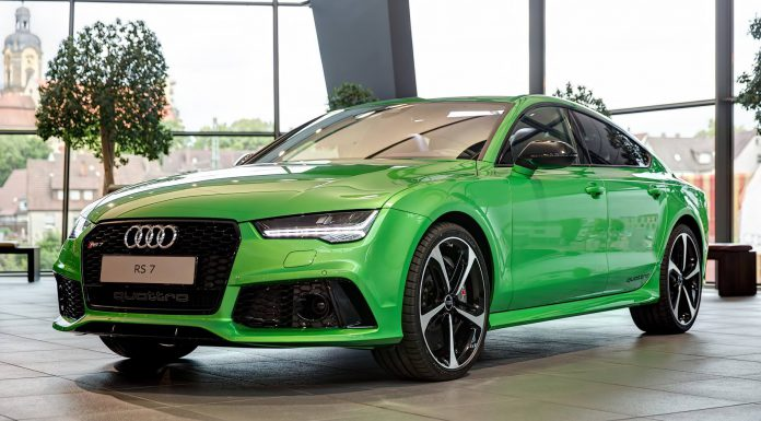 Apple Green Audi RS7 Sportback in Germany