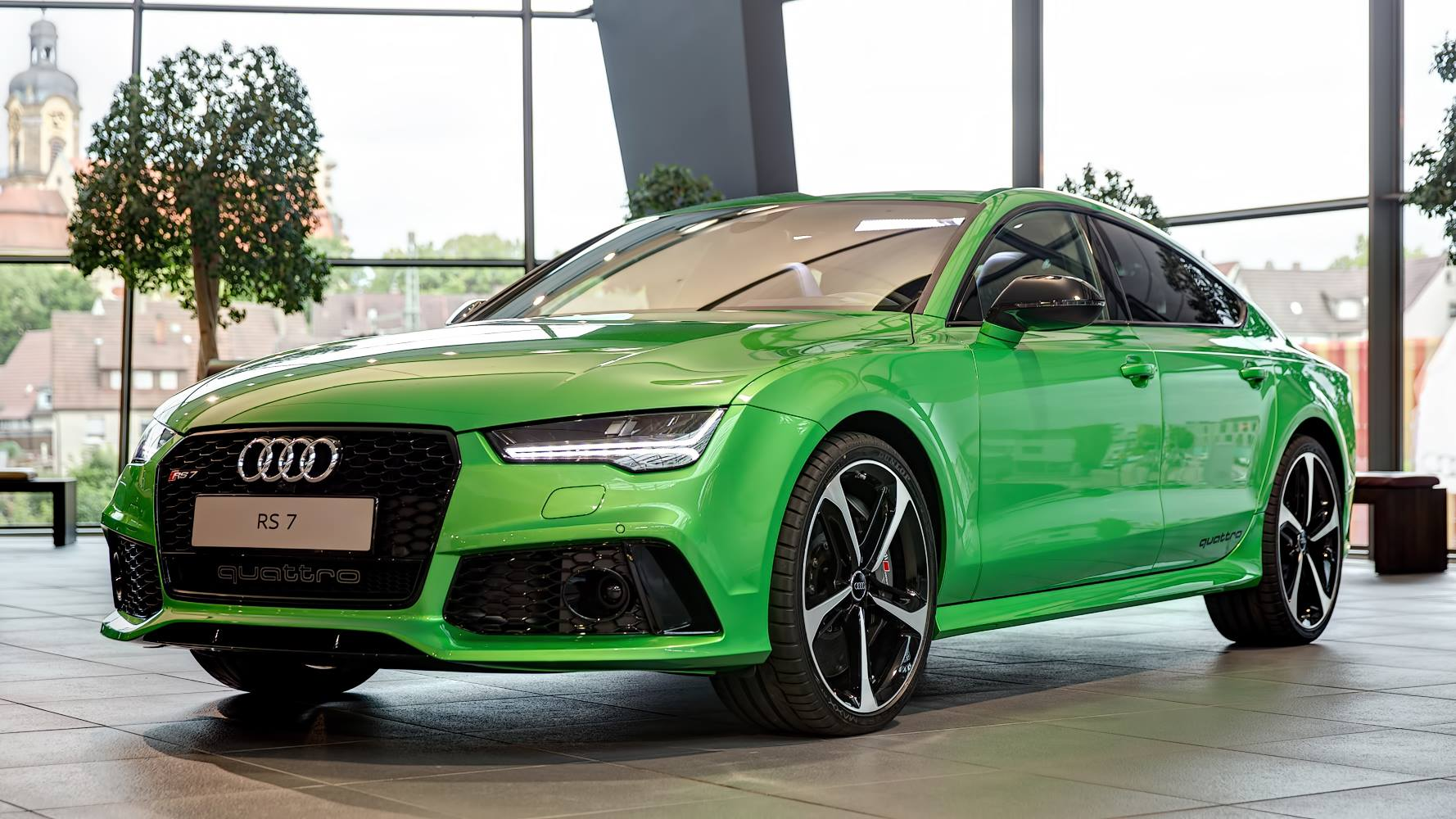 Unique Apple Green Metallic Audi RS7 Sportback in Germany ...