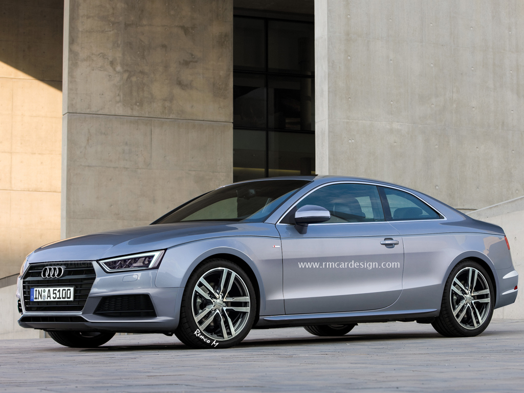 Next-generation Audi A5 rendered front