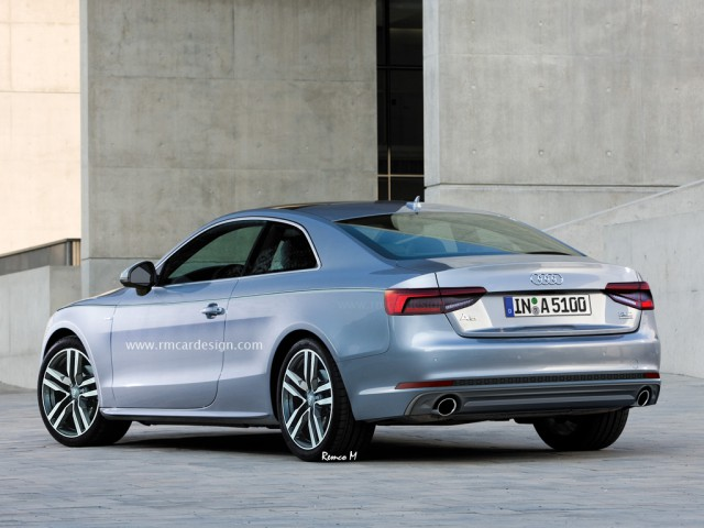 Next-generation Audi A5 rendered rear