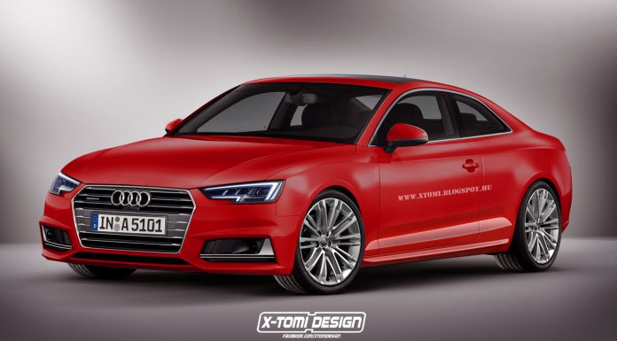 Next-generation Audi A5 Coupe rendered