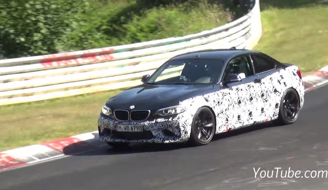 BMW M2 tests at the Nurburgring