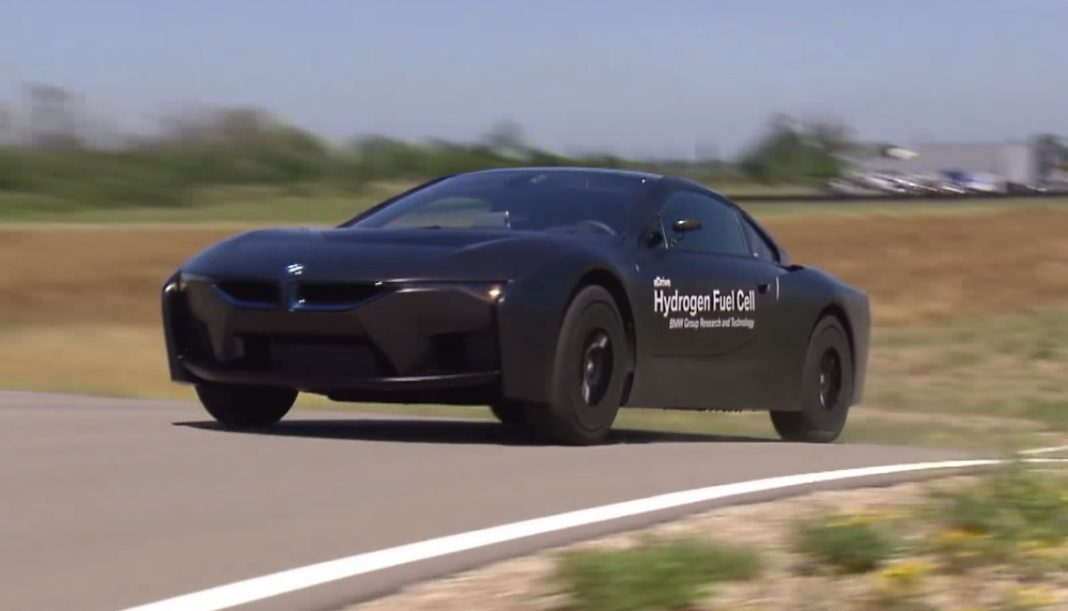 BMW i8 Hydrogen Fuel Cell prototype testing