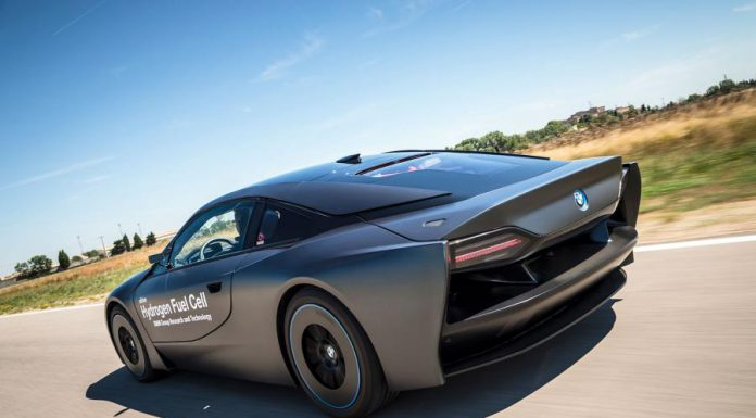 BMW reveals i8 based hydrogen fuel-cell prototype rear