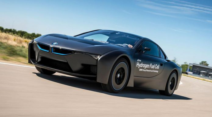 BMW reveals i8 based hydrogen fuel-cell prototype front